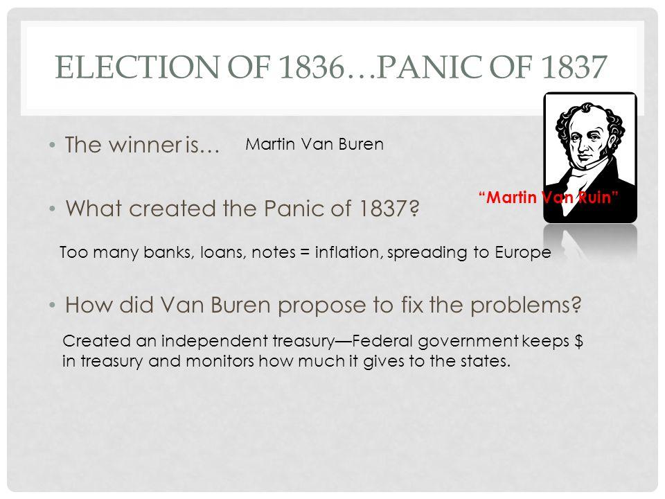 The 1836 Election Results Martin Van Buren Old Kinderhook [O. K.]