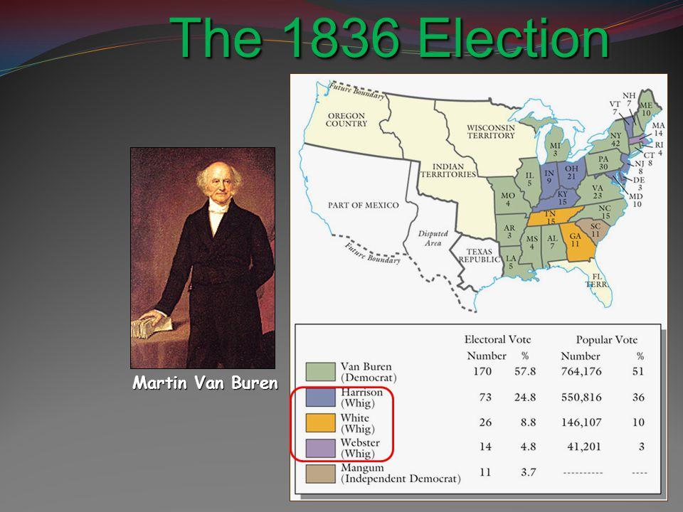 The 1836 Election Results Martin Van Buren