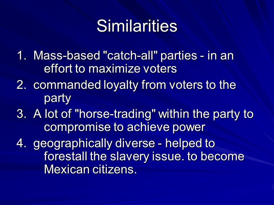 Similarities 1. Mass-based