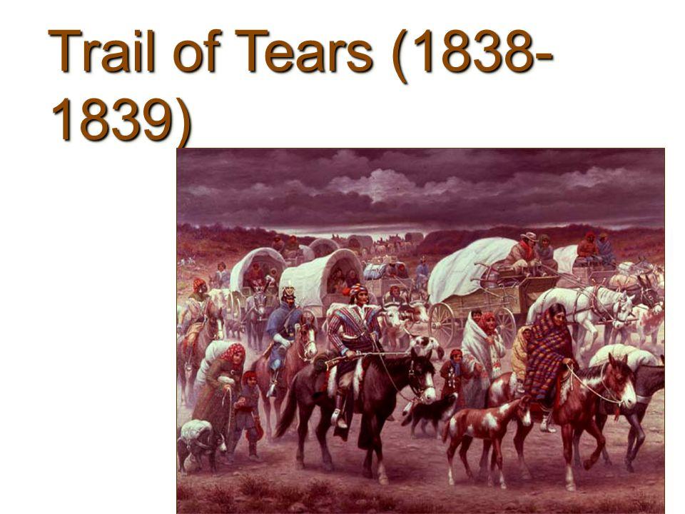 Trail of Tears (1838- 1839)