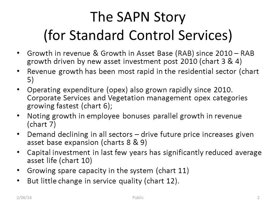 Total Revenue & Asset Base for Standard Control Services (SCS) 2/06/14Public3