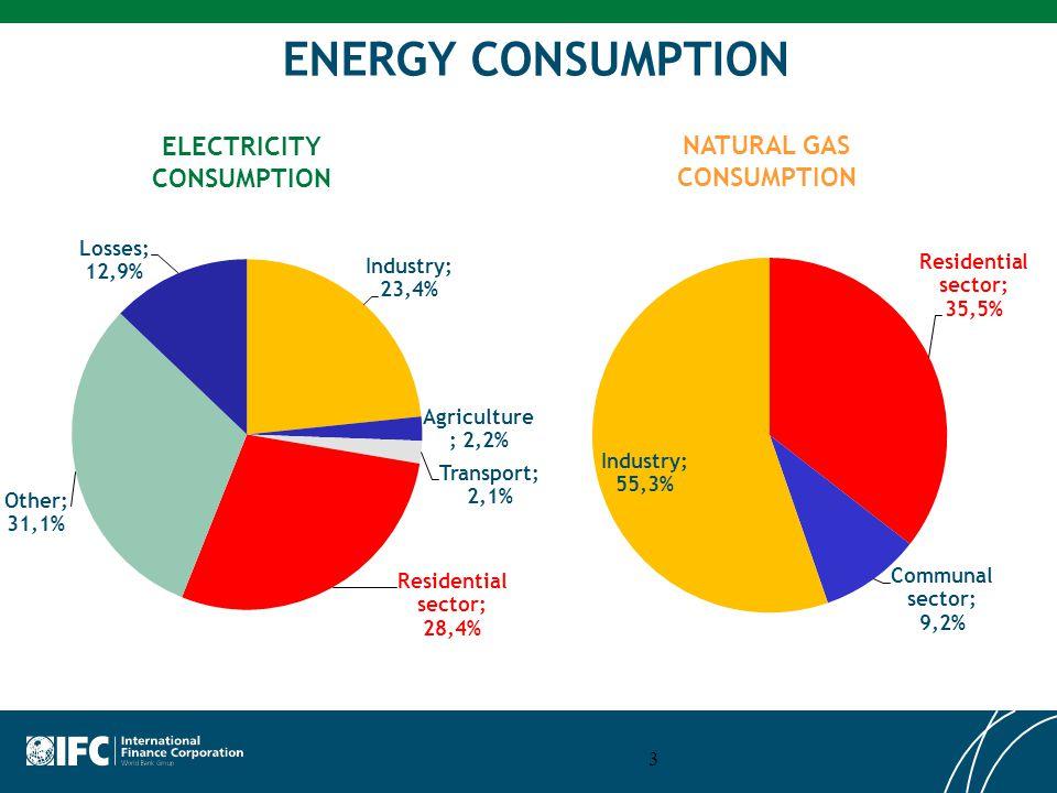 3 ENERGY CONSUMPTION ELECTRICITY CONSUMPTION NATURAL GAS CONSUMPTION