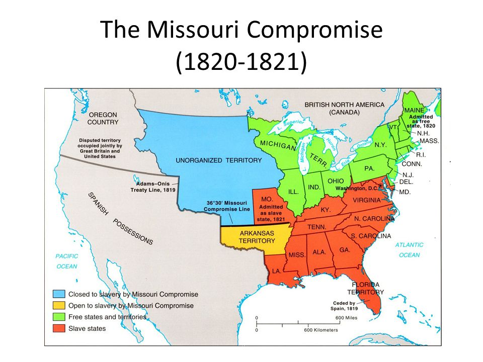 The Missouri Compromise (1820-1821)