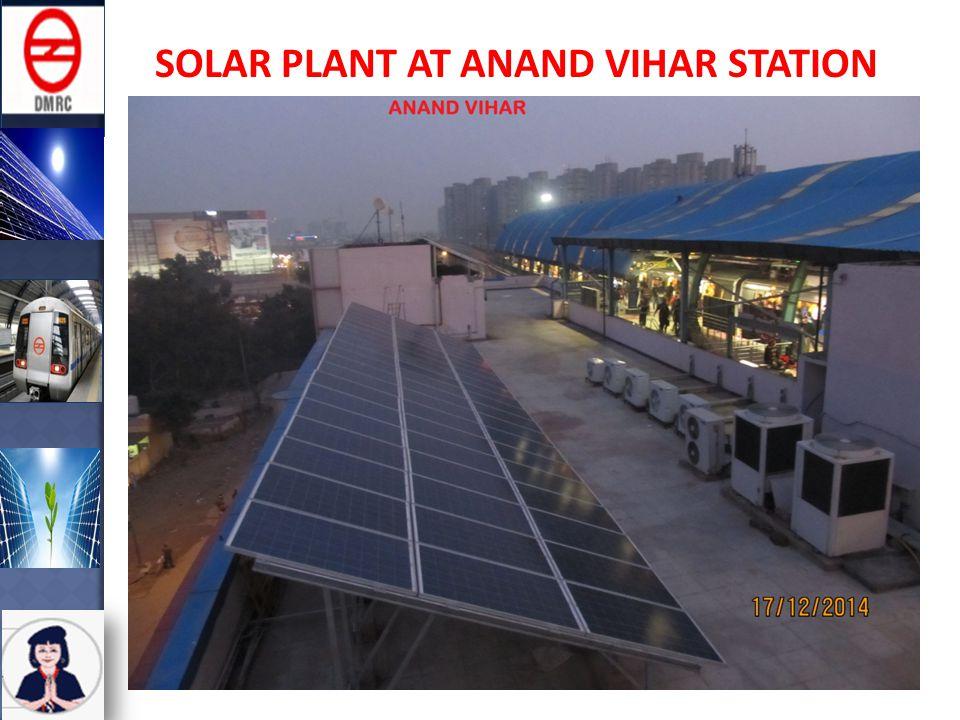 SOLAR PLANT AT ANAND VIHAR STATION