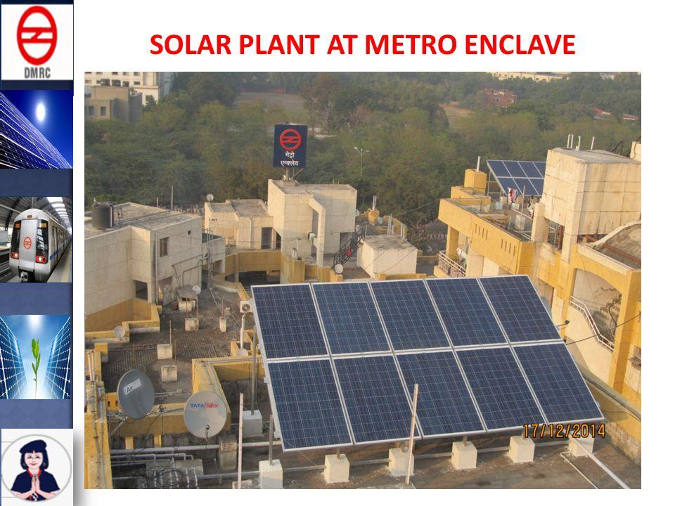 SOLAR PLANT AT METRO ENCLAVE