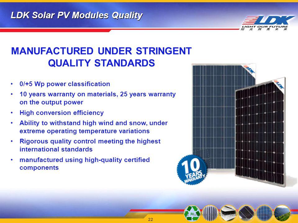 V2 - November 2011 - © LDK Solar Co., Ltd.All rights reserved.