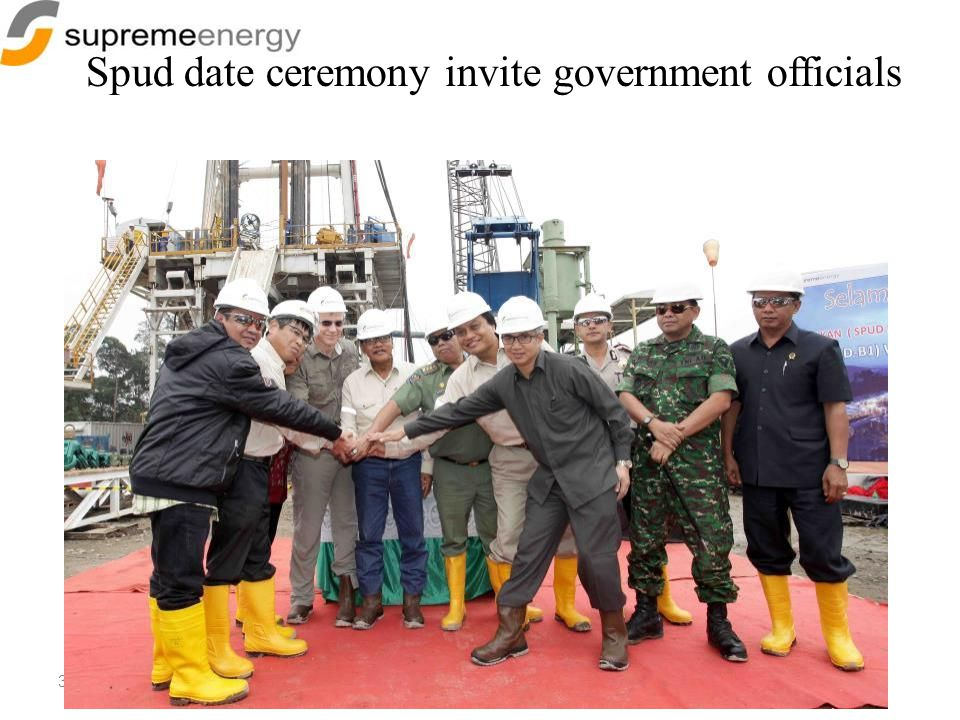 35 Spud date ceremony invite government officials