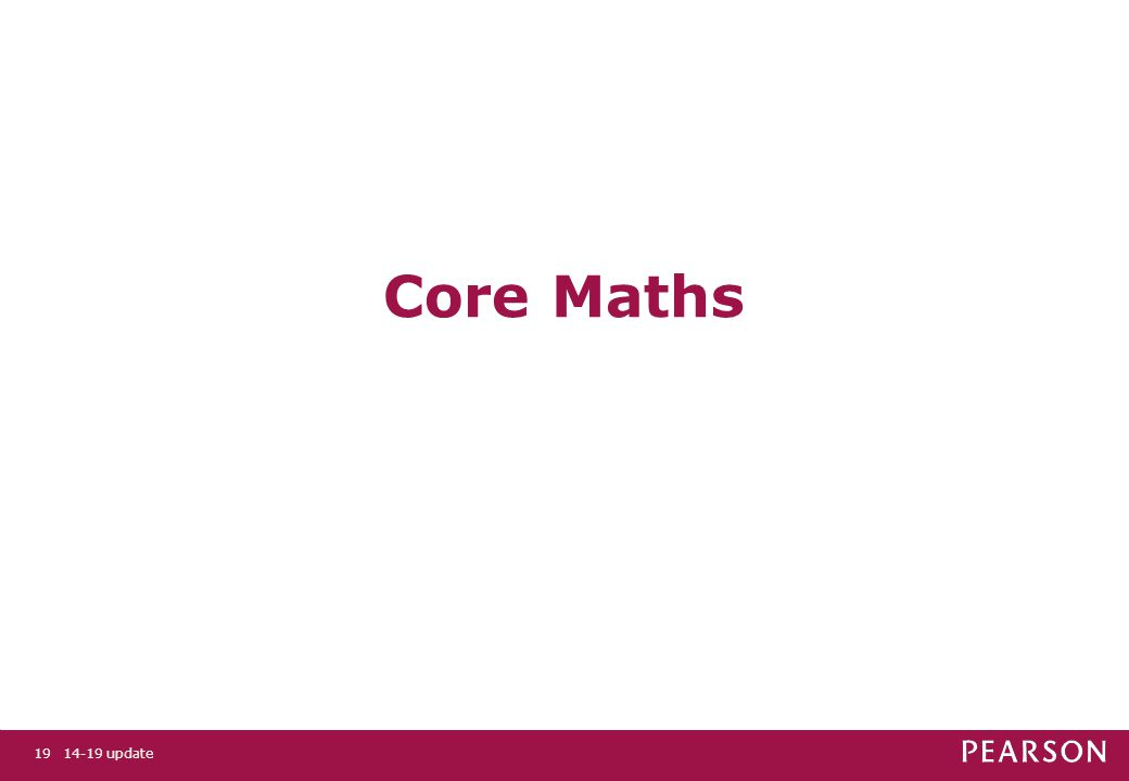 Core Maths 14-19 update19