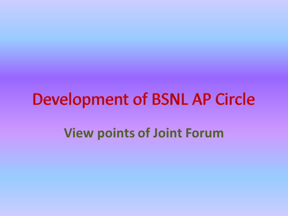 View points of Joint Forum