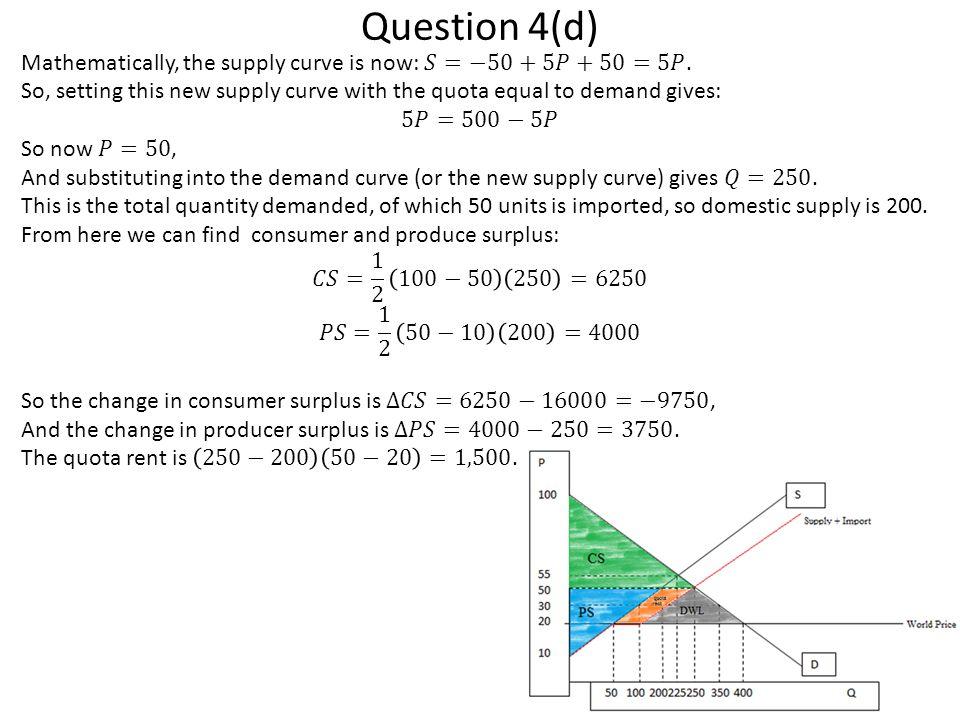 Question 4(d)