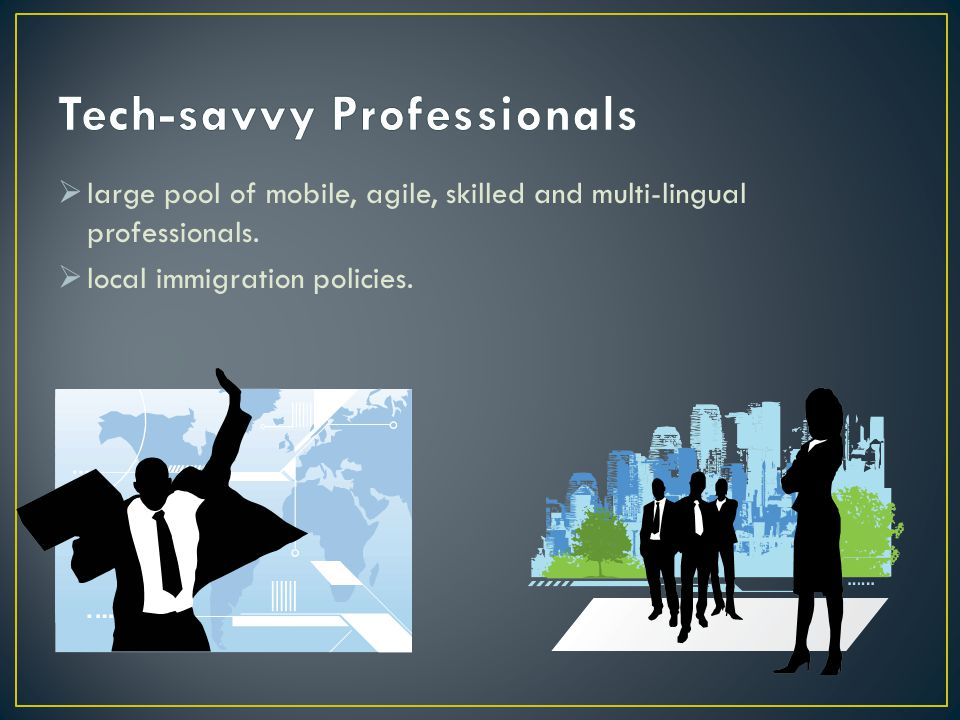  large pool of mobile, agile, skilled and multi-lingual professionals.