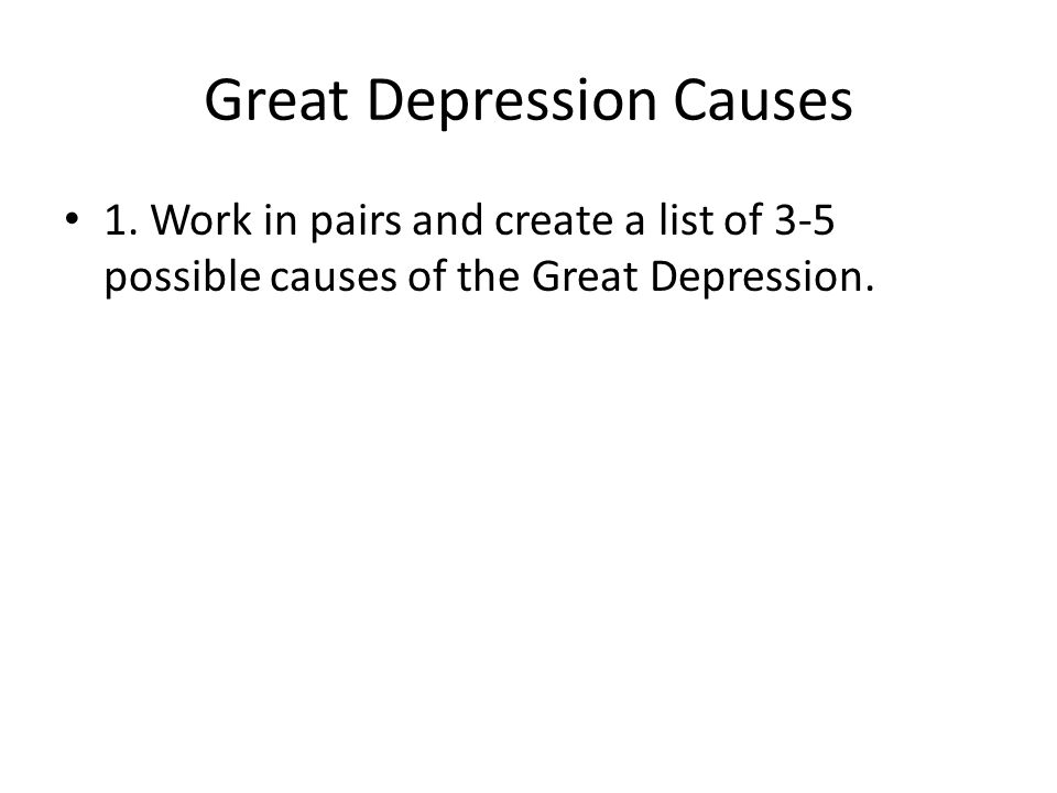 Great Depression Causes 1.