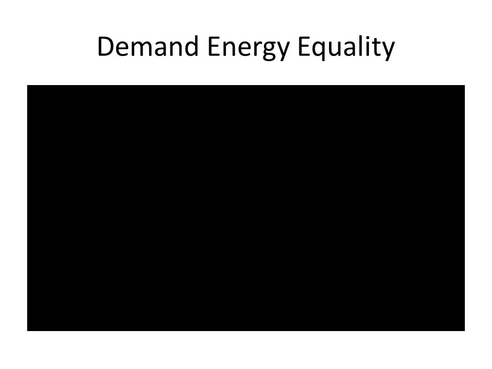 Demand Energy Equality