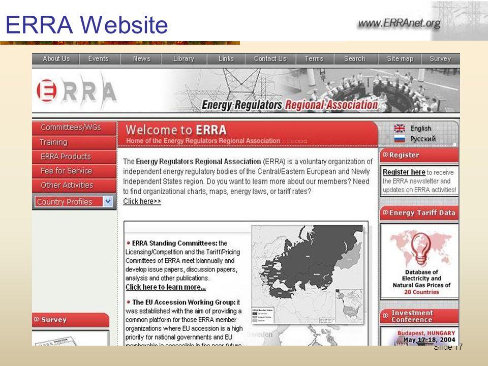 Slide 17 ERRA Website