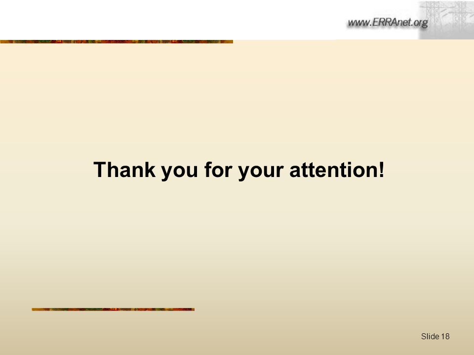 Slide 18 Thank you for your attention!