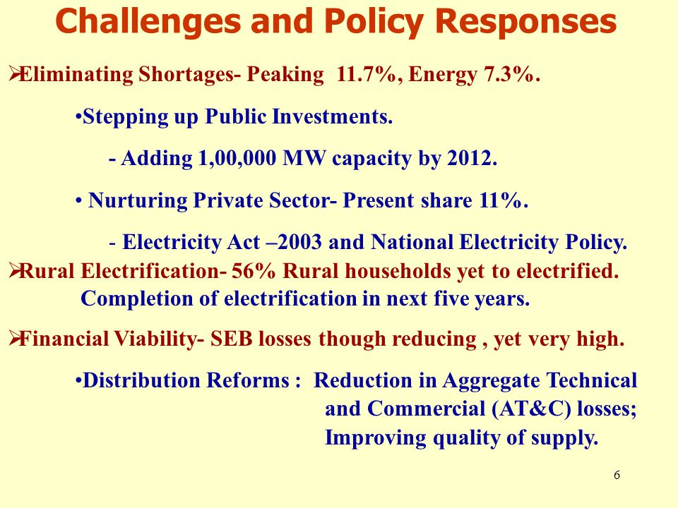 7 Improving Investment Climate  At present 40,000 MW generation capacity is already under execution.
