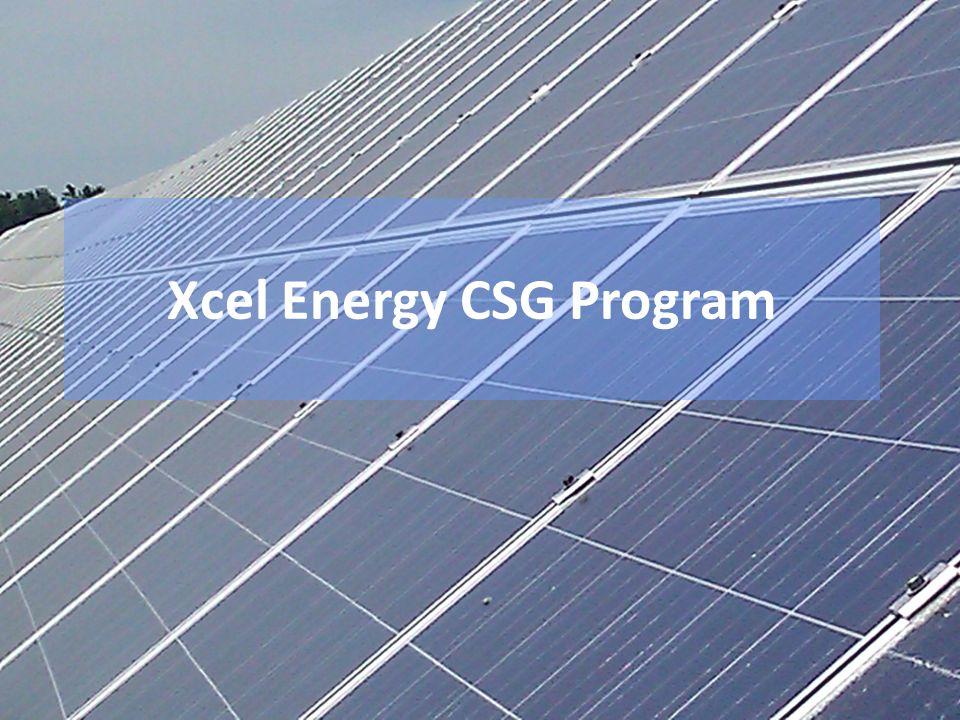 Xcel Energy CSG Program