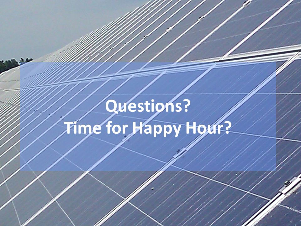 Questions Time for Happy Hour
