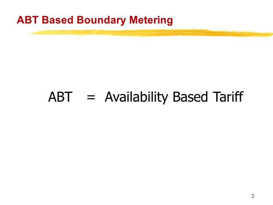 44 ABT Based Boundary Metering ABT ≡ Grid Discipline