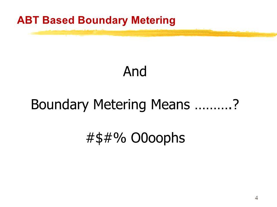 5 ABT Based Boundary Metering So what is Boundary Metering.