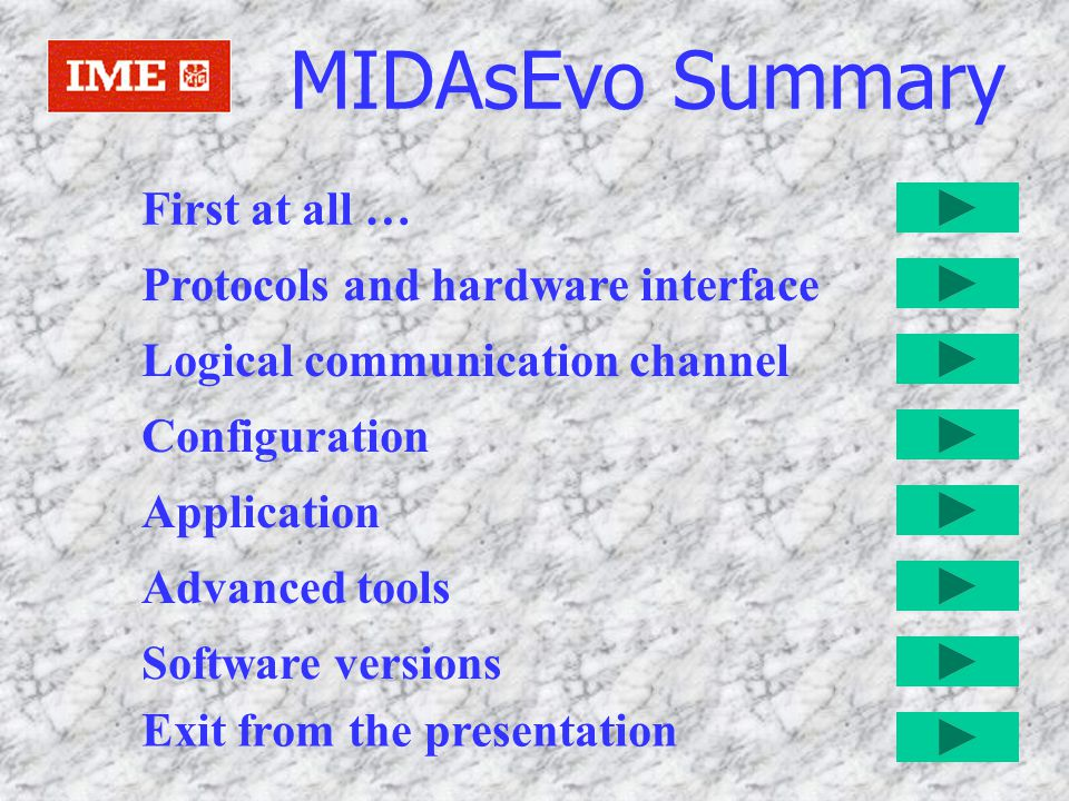First of all MIDAS-Evo is a powerful program to allow the user to analyze the energy consumption.