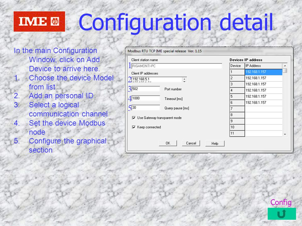Summary of power and energies will be shown and recorded Meter detail Back Application