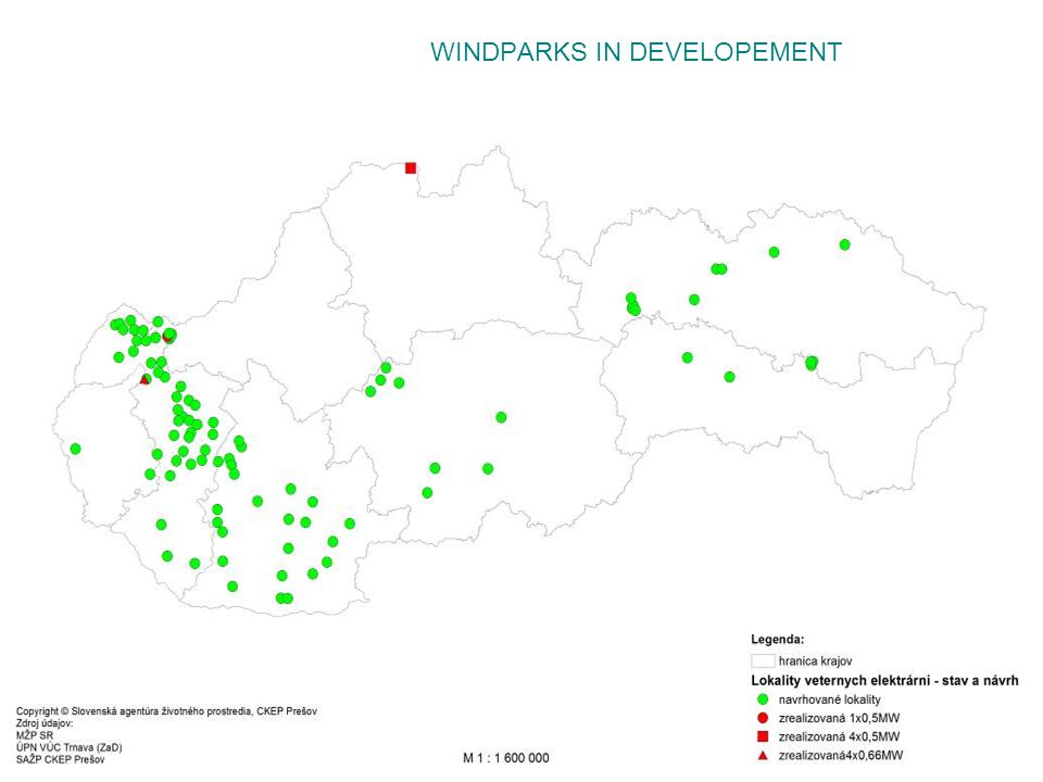 WINDPARKS IN DEVELOPEMENT