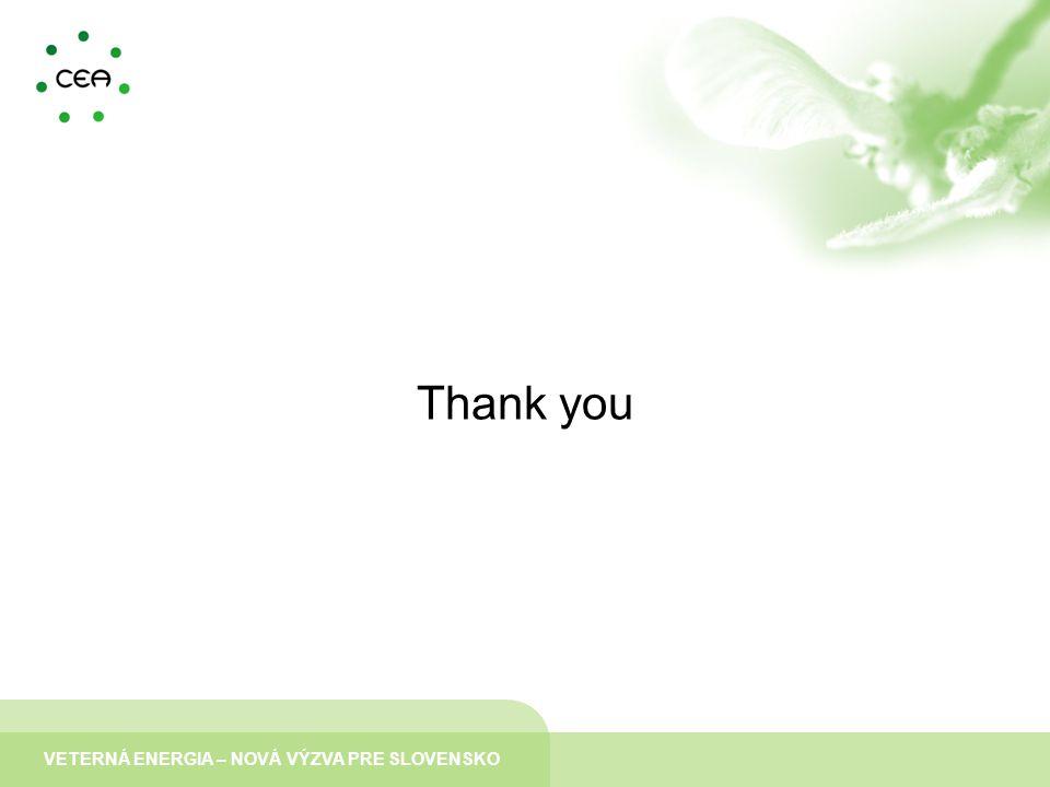 VETERNÁ ENERGIA – NOVÁ VÝZVA PRE SLOVENSKO Thank you