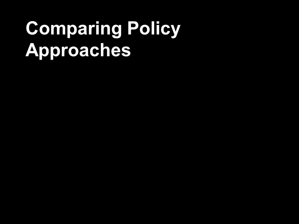 Comparing Policy Approaches