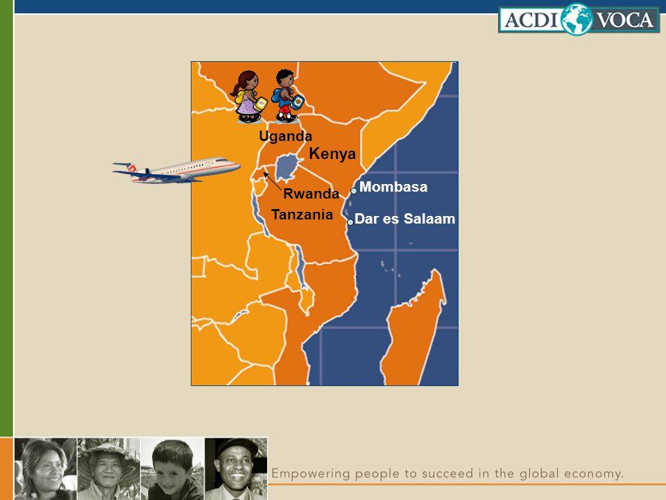Uganda Rwanda Tanzania Kenya Dar es Salaam Mombasa