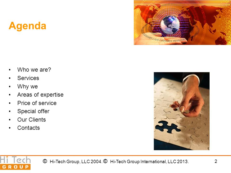 2 Agenda Who we are.