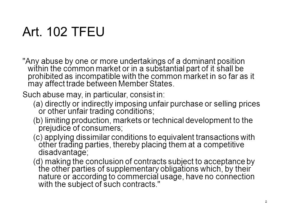 Test Four conditions: (i)input supplier is vertically integrated; (ii)input is essential; (iii)the price charged would prevent an efficient competitor from making a normal profit; (iv)there is no objective justification for this pricing strategy;