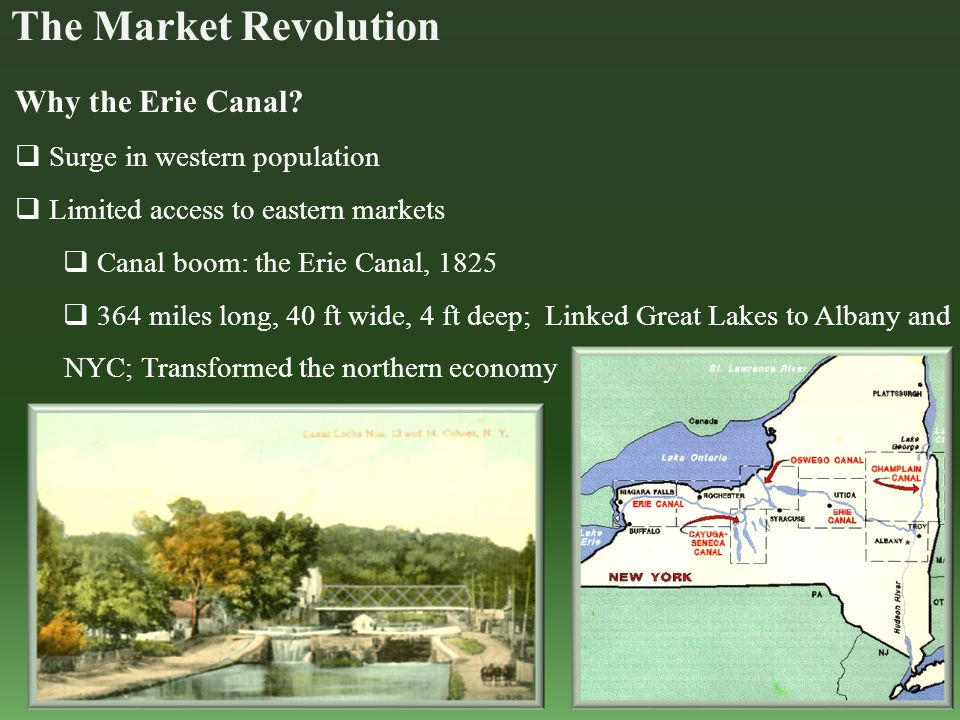 Why the Erie Canal.