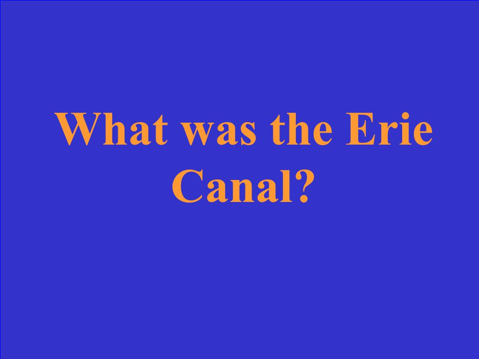 This was the first canal built by the US Government.