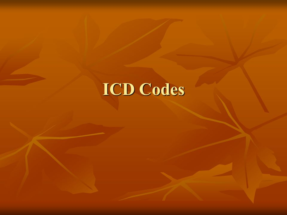 ICD Codes