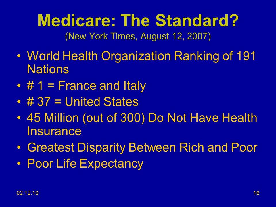 02.12.10 Medicare: The Standard.