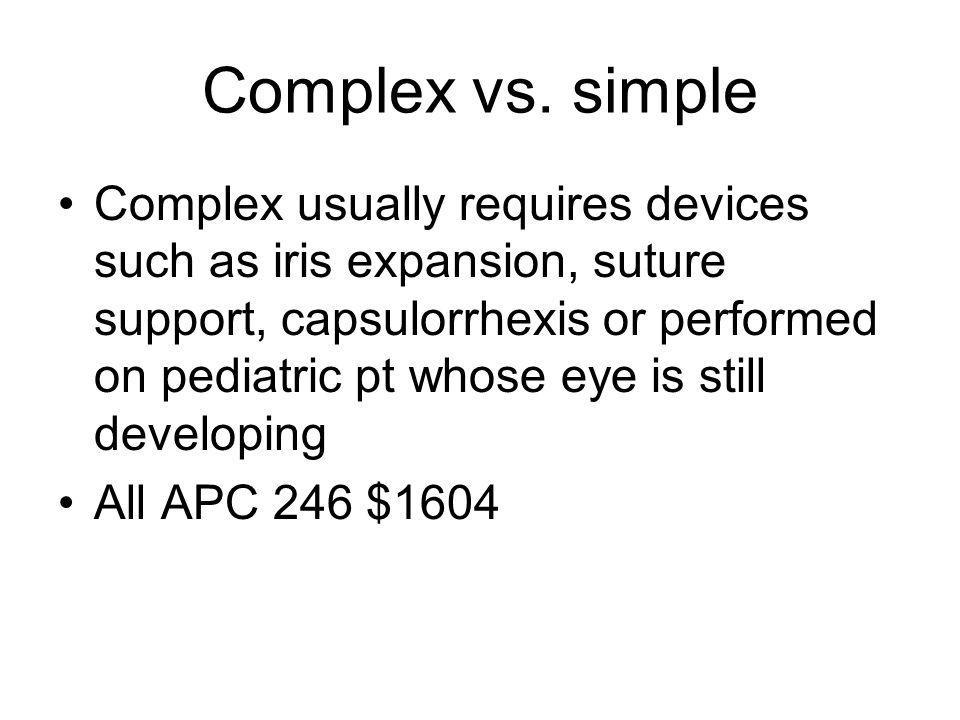 Complex vs.