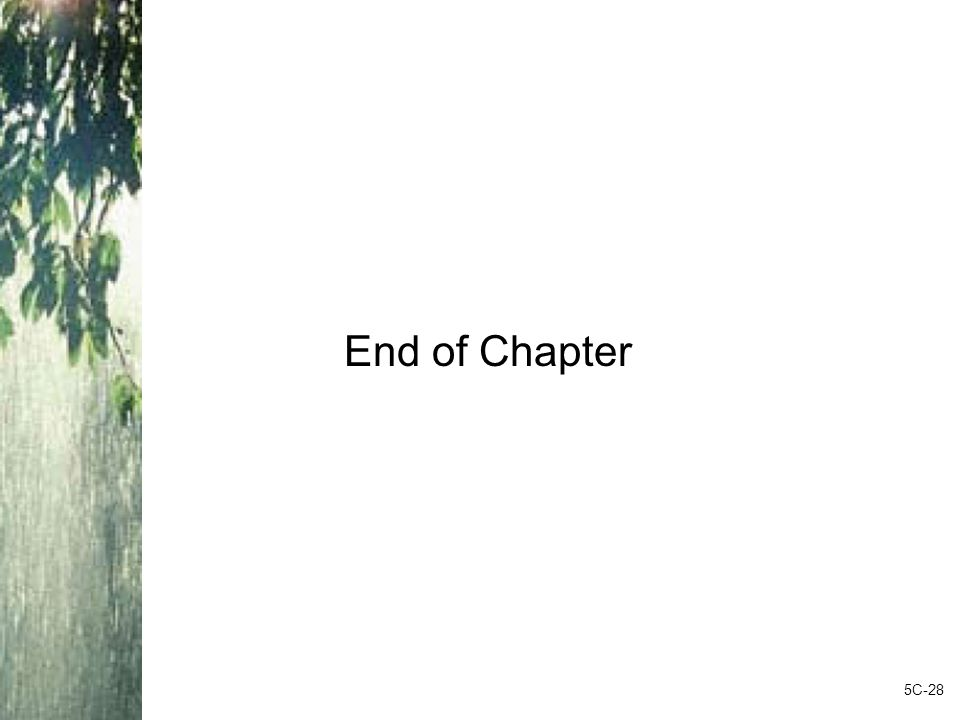 End of Chapter 5C-28