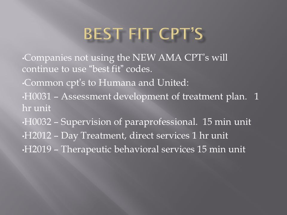 Consider carefully how the use of the NEW cpt's could impact your business or practice.