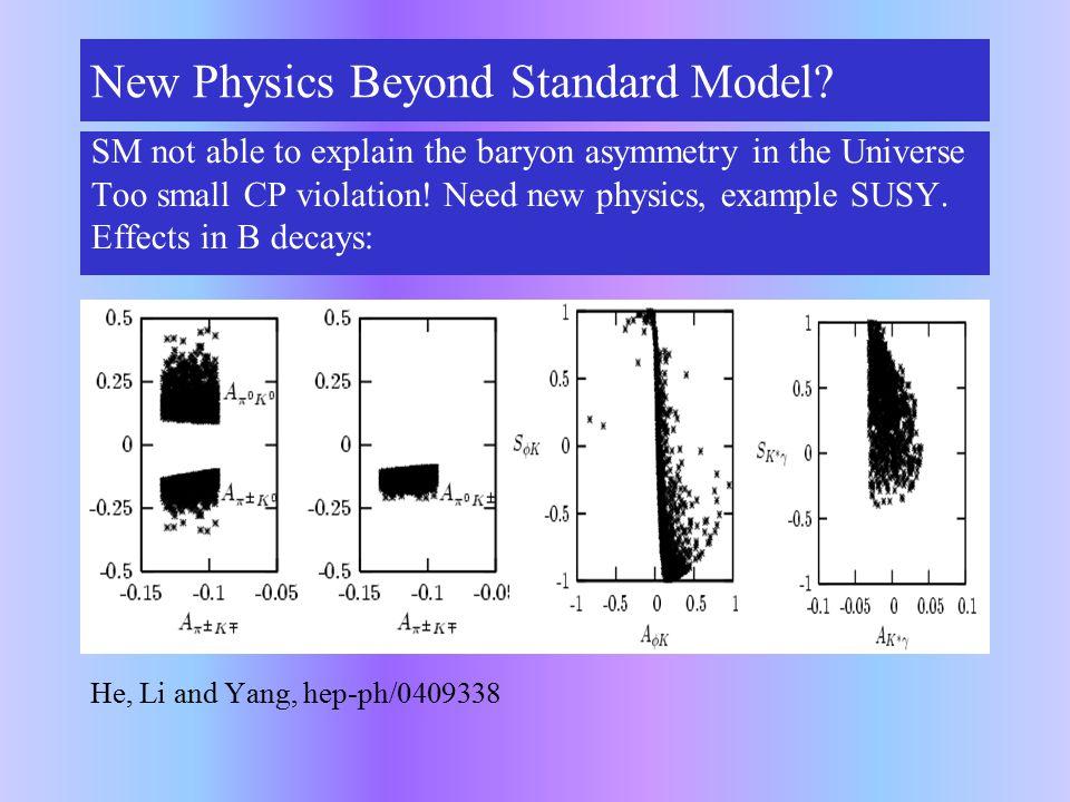 New Physics Beyond Standard Model.