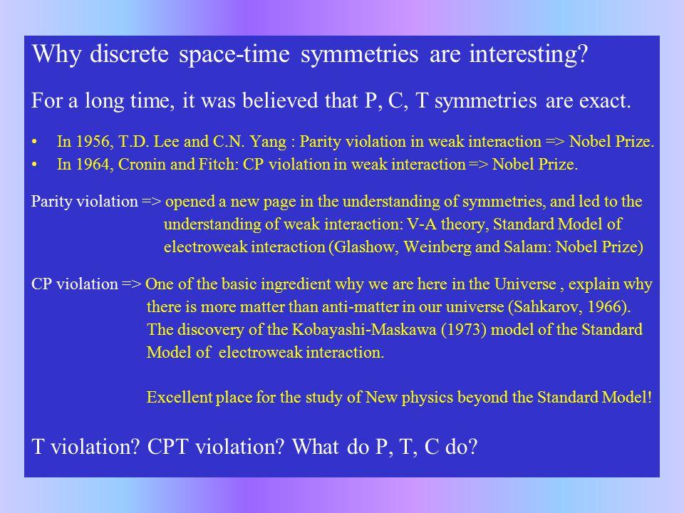 Some basics of discrete space-time symmetries
