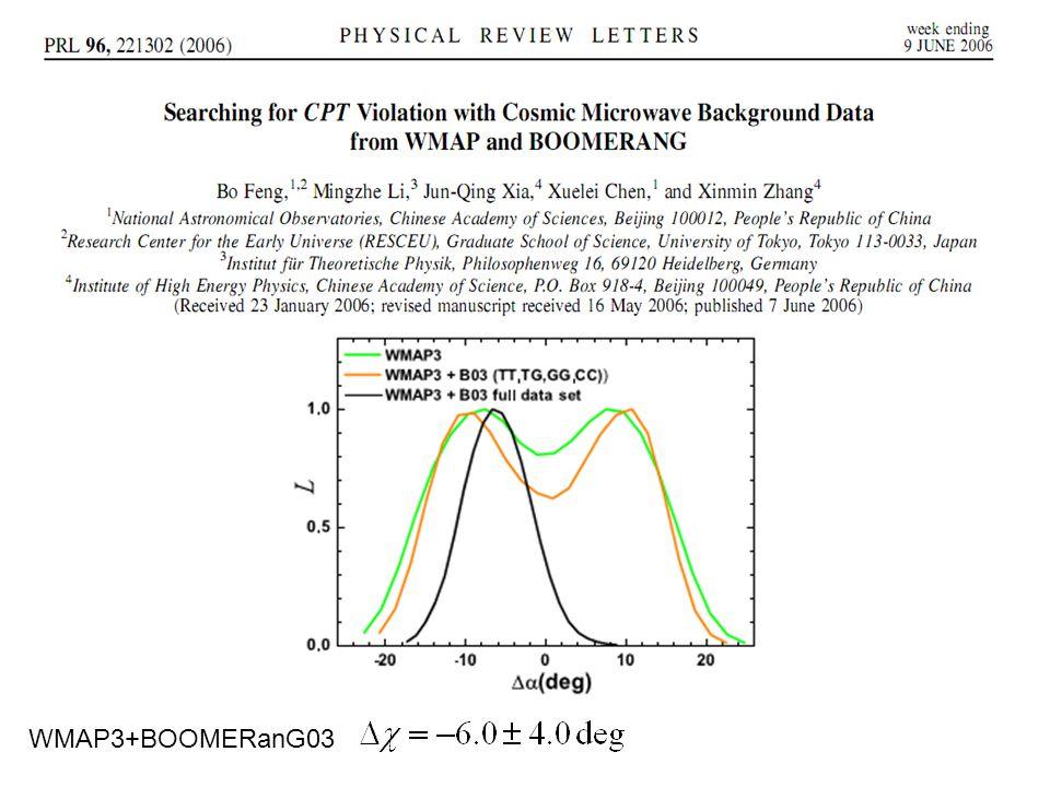 WMAP3+BOOMERanG03