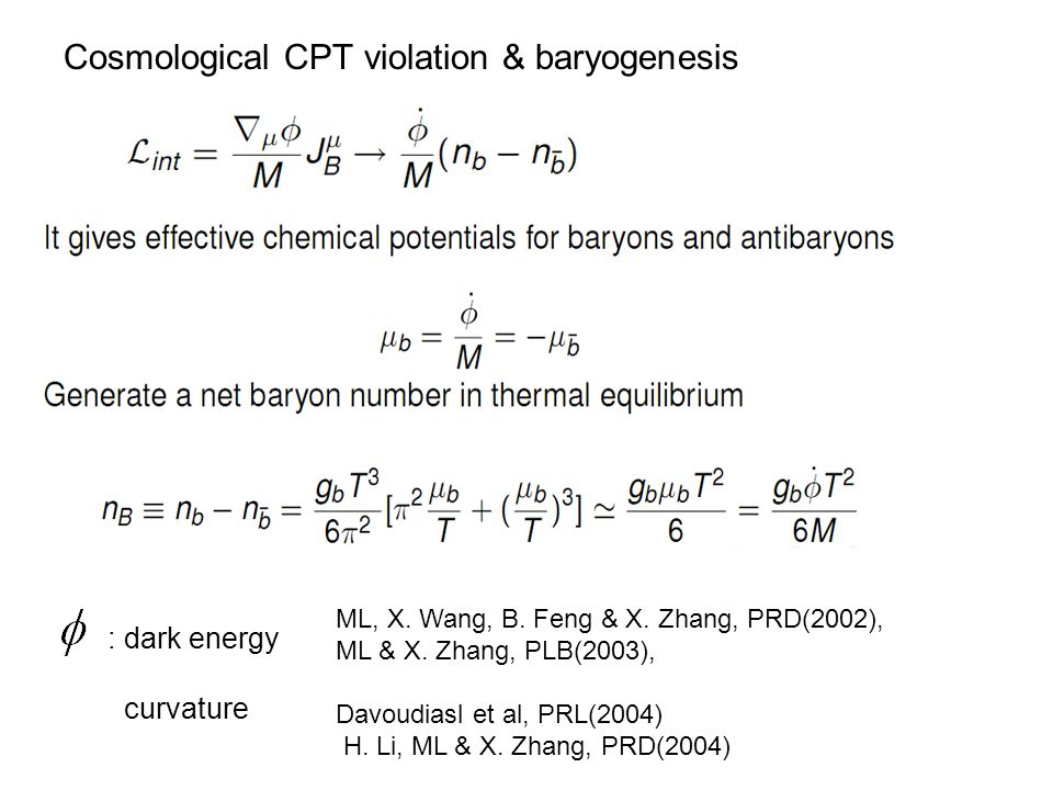 Cosmological CPT violation & baryogenesis : dark energy curvature ML, X.