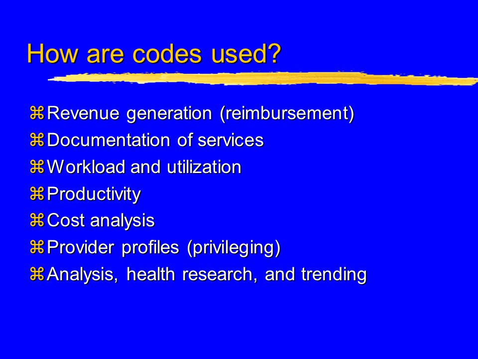 Principles of Disease Coding zGeneral rule: code to the highest degree of medical certainty.