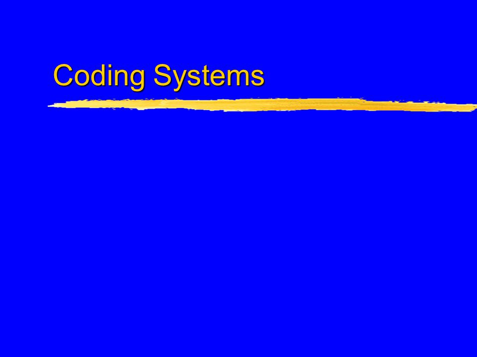 Procedure Coding Systems zHealthcare Common Procedure Coding System (HCPCS) zCurrent Procedural Terminology (CPT) zHCPCS Level II (National or HCPCS) zICD-9 PCS  Future: ICD-10-CM and ICD-10 PCS