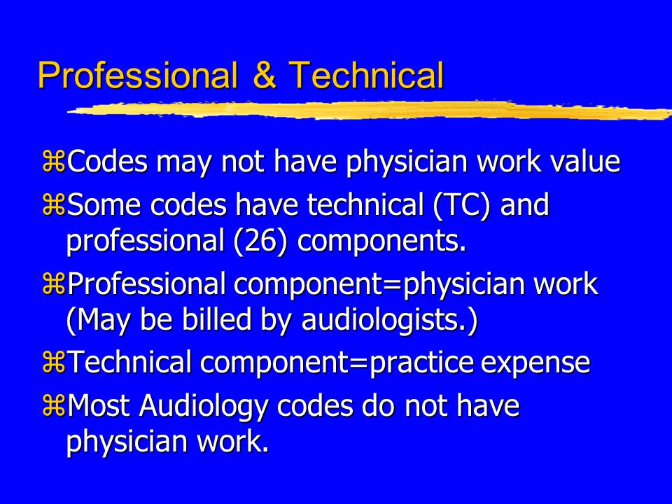 Audiological Assessment Codes z92557--comprehensive audiometry zBundled code (includes 92553 and 92556) zDo not code separately if all component tests are performed z92559--group audiometric test
