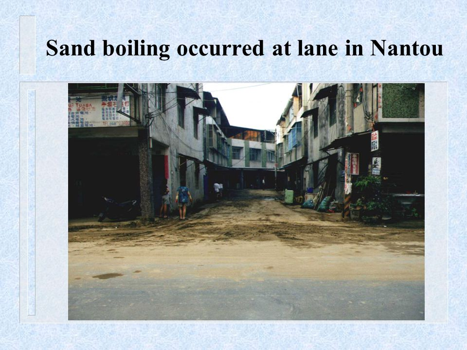 Sand boiling occurred at lane in Nantou