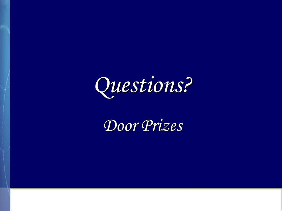 Questions Door Prizes