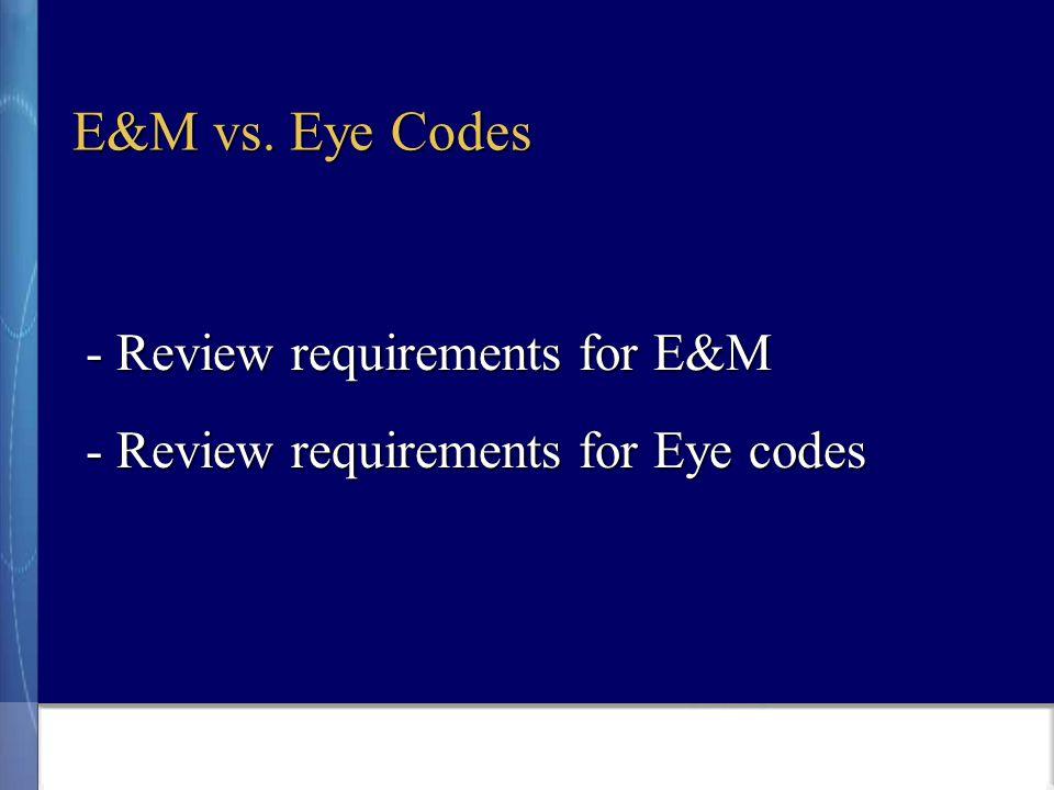 E&M vs.