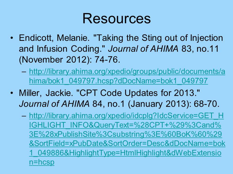 Resources Endicott, Melanie.